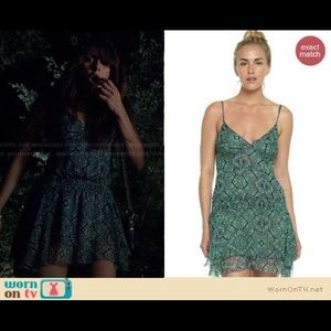 Elena Gilbert Joe's Jeans Green Tank Dress